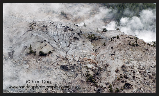 Steaming Fumarole on Mountainside